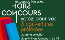 Concours de couverture sur la sélection du prix Hors Concours 2018