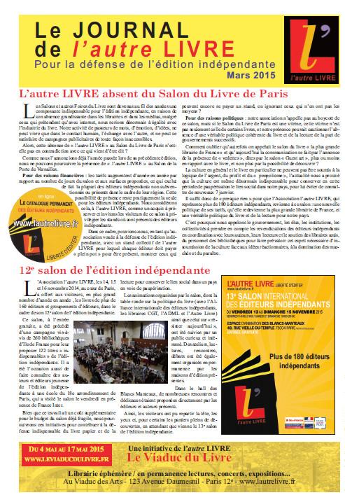 Journal autrelivre paris2015