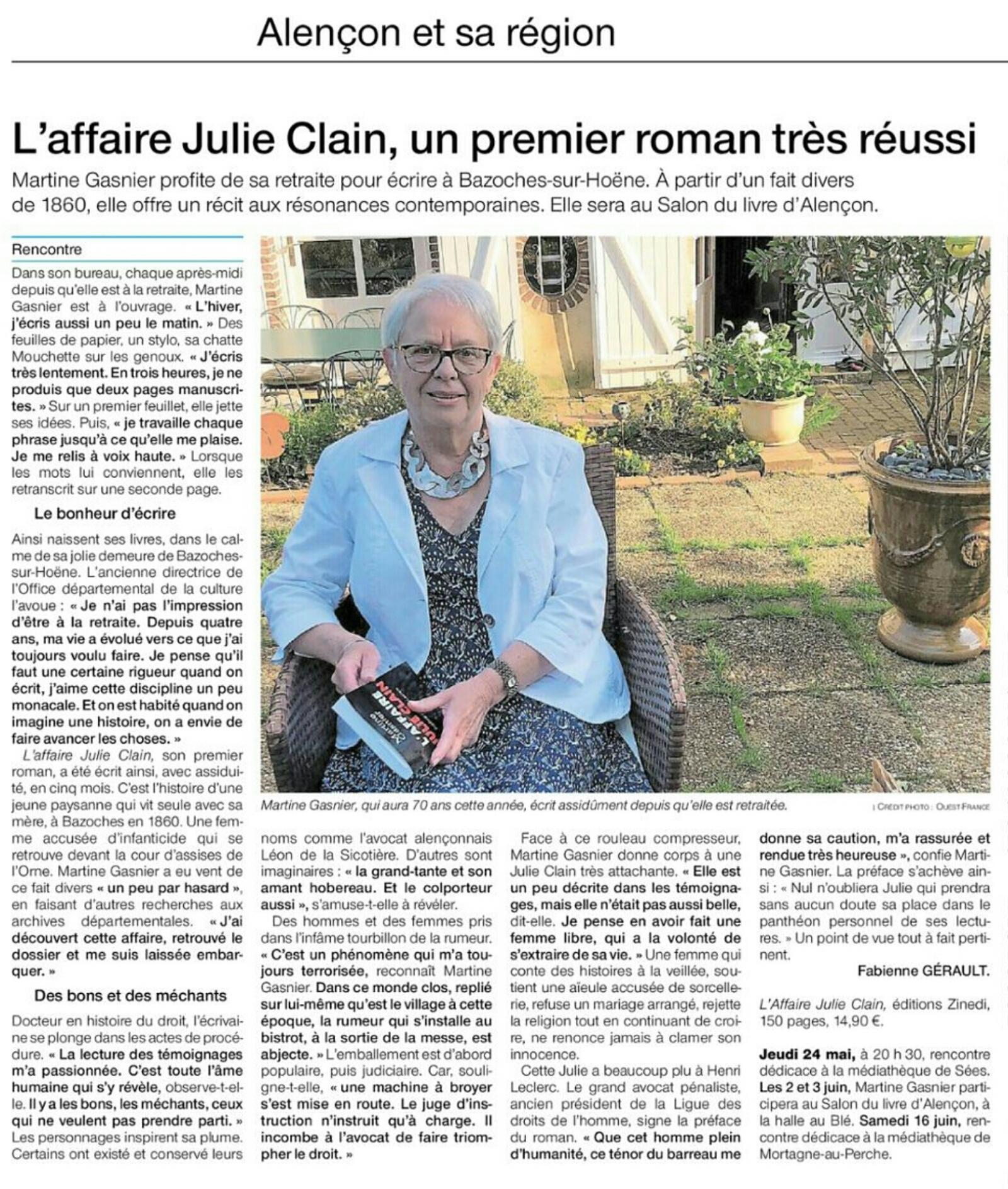 Ouest france art. du 24 mai 2018