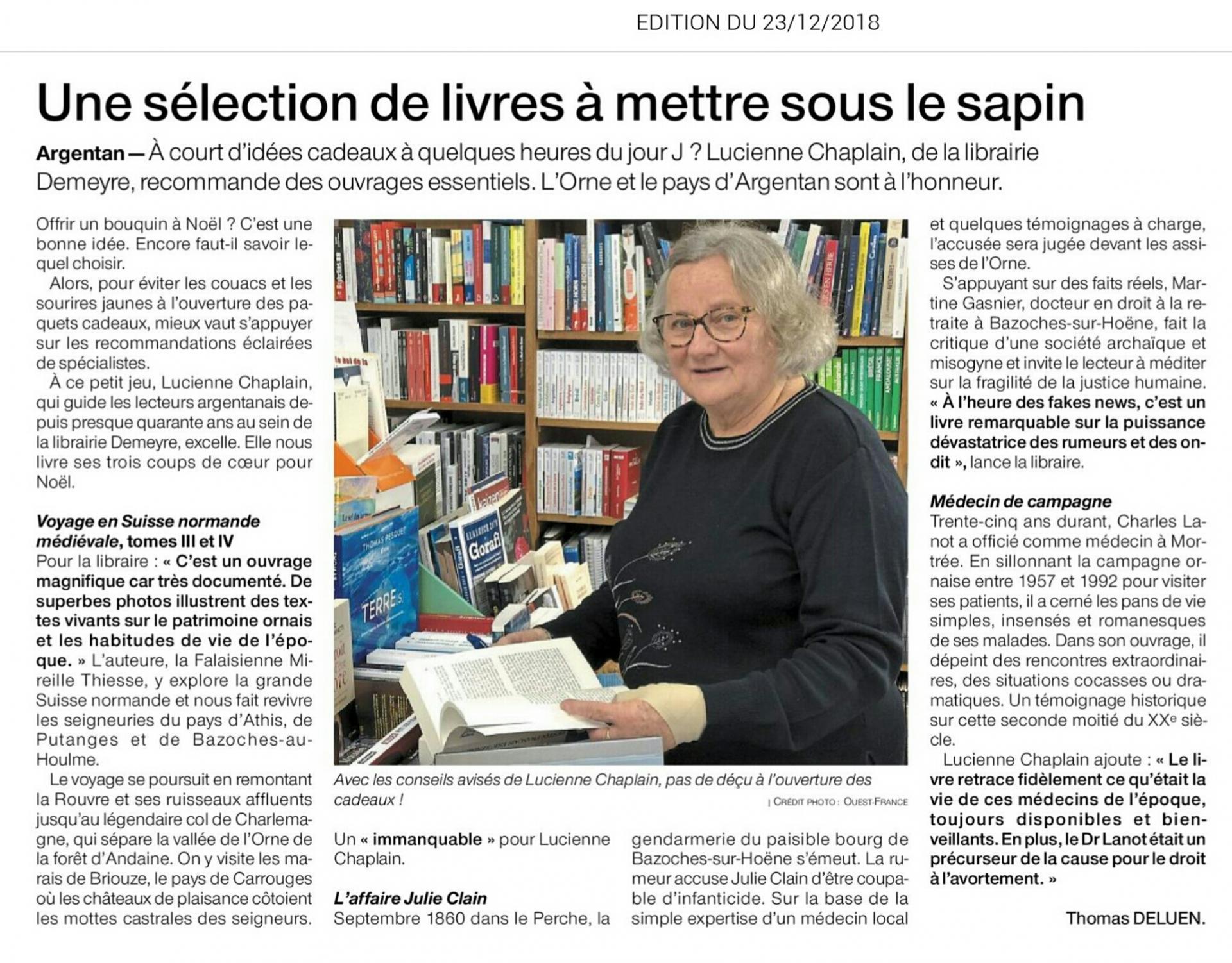 Ouest France du 23 decembre 2018